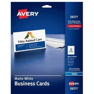 4 Packs of Two-Sided Business Card